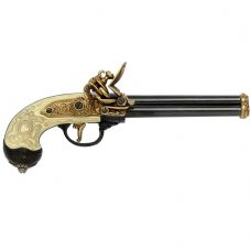 three barrel flintlock pistol